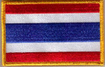 Thailand Embroidered Flag Patch, style 08.